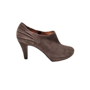 Clarks Wessex Azure Suede Heeled Ankle Boots Grey